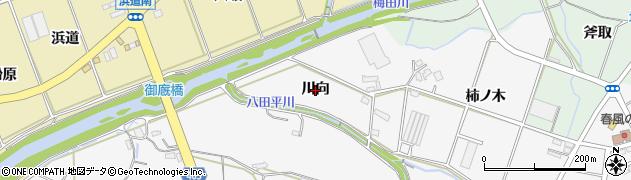 愛知県豊橋市天伯町(川向)周辺の地図