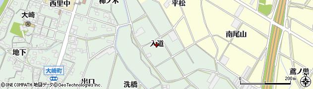 愛知県豊橋市大崎町(入道)周辺の地図