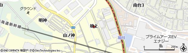 愛知県豊橋市原町(塘上)周辺の地図