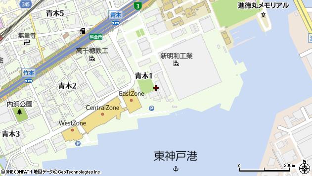 〒658-0027 兵庫県神戸市東灘区青木の地図