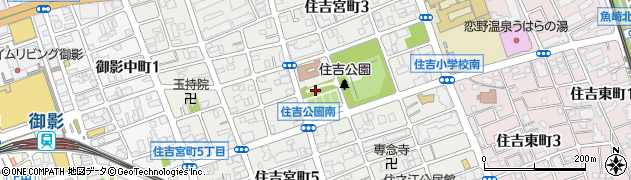 兵庫県神戸市東灘区住吉宮町周辺の地図