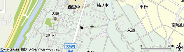 愛知県豊橋市大崎町(北出口)周辺の地図