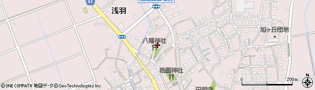 浅羽八幡神社周辺の地図
