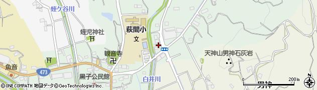 静岡県牧之原市白井周辺の地図
