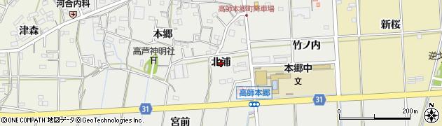 愛知県豊橋市高師本郷町(北浦)周辺の地図