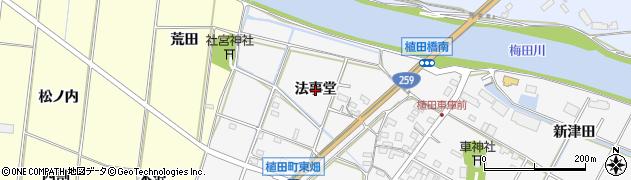 愛知県豊橋市植田町(法事堂)周辺の地図
