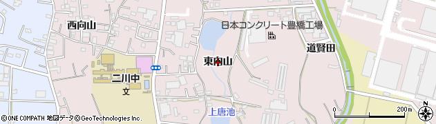 愛知県豊橋市二川町(東向山)周辺の地図