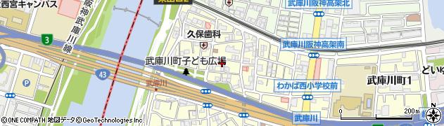 兵庫県尼崎市武庫川町3丁目周辺の地図