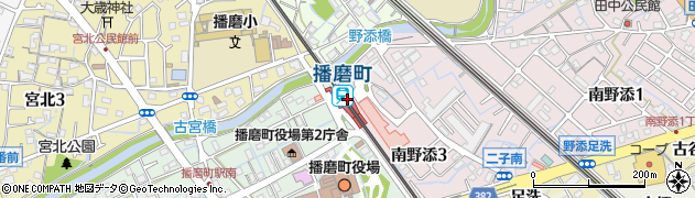 兵庫県加古郡播磨町周辺の地図