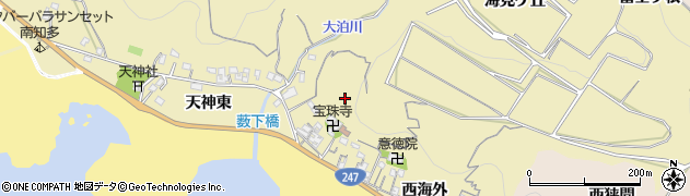 愛知県南知多町(知多郡)山海(七七九五)周辺の地図
