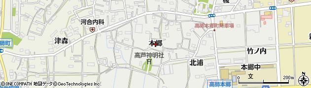 愛知県豊橋市高師本郷町(本郷)周辺の地図