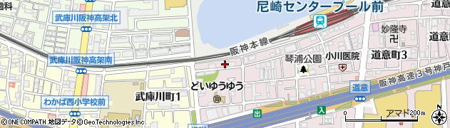 兵庫県尼崎市道意町5丁目周辺の地図