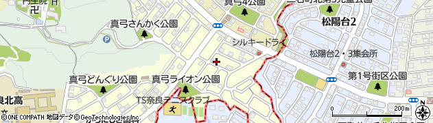 奈良県生駒市真弓南周辺の地図