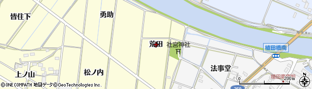 愛知県豊橋市船渡町(荒田)周辺の地図