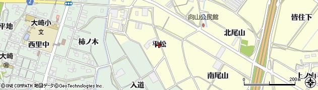 愛知県豊橋市船渡町(平松)周辺の地図
