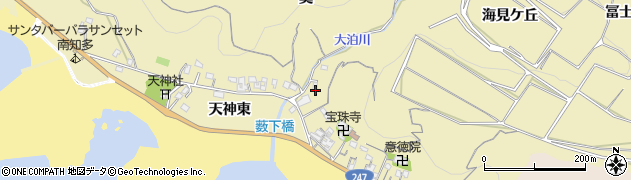愛知県南知多町(知多郡)山海(薮下)周辺の地図