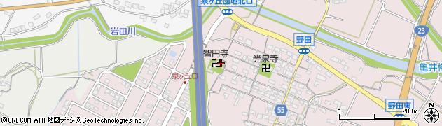 智円寺周辺の地図