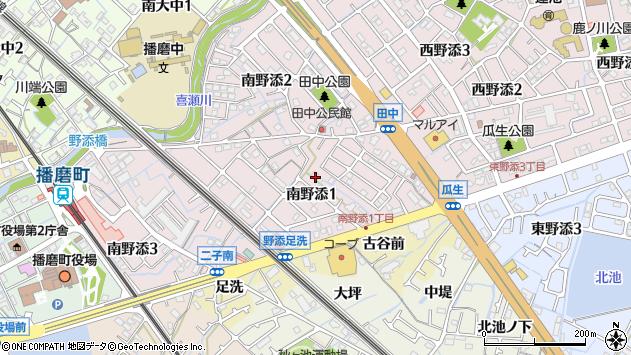 〒675-0150 兵庫県加古郡播磨町南野添の地図
