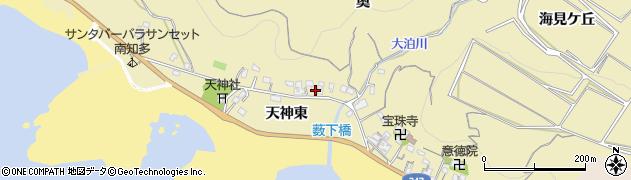 愛知県南知多町(知多郡)山海(天神東)周辺の地図
