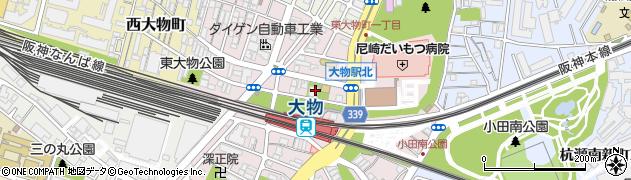 兵庫県尼崎市東大物町1丁目周辺の地図