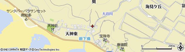 愛知県南知多町(知多郡)山海(奥)周辺の地図