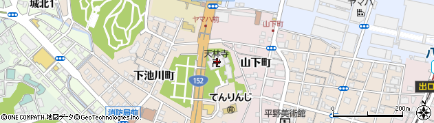 天林寺周辺の地図