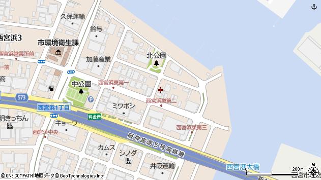 〒662-0934 兵庫県西宮市西宮浜の地図