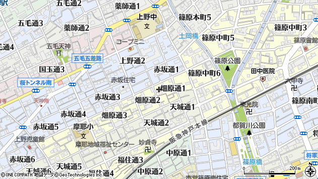〒657-0822 兵庫県神戸市灘区畑原通の地図