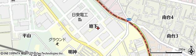 愛知県豊橋市原町(塘下)周辺の地図