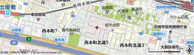 兵庫県尼崎市西桜木町周辺の地図