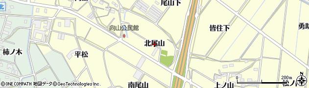 愛知県豊橋市船渡町(北尾山)周辺の地図