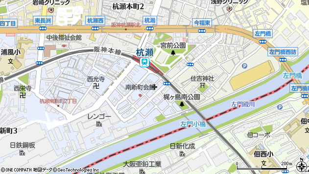 〒660-0822 兵庫県尼崎市杭瀬南新町の地図