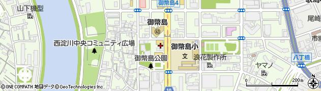 大阪府大阪市西淀川区御幣島周辺の地図