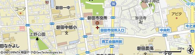 静岡県磐田市中央町周辺の地図