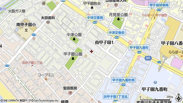 〒663-8153 兵庫県西宮市南甲子園の地図