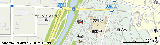 愛知県豊橋市大崎町(平地)周辺の地図