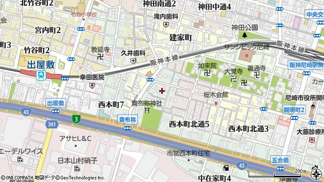 〒660-0866 兵庫県尼崎市汐町の地図