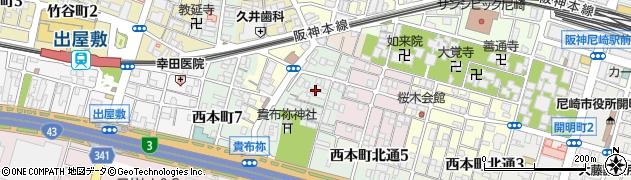 兵庫県尼崎市汐町周辺の地図