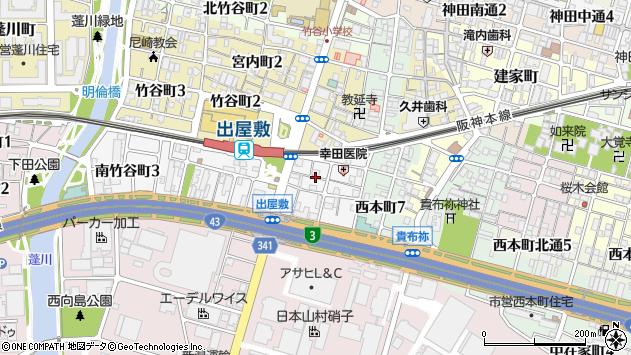 〒660-0875 兵庫県尼崎市南竹谷町の地図