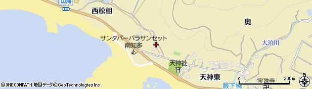 愛知県南知多町(知多郡)山海(天神西)周辺の地図