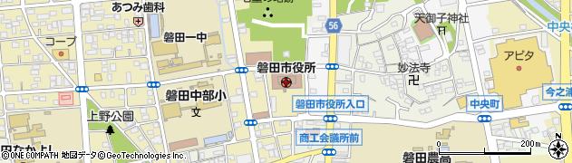 静岡県磐田市周辺の地図