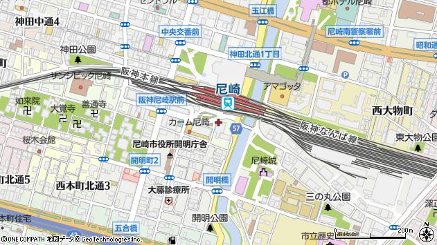 〒660-0861 兵庫県尼崎市御園町の地図