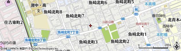 兵庫県神戸市東灘区魚崎北町周辺の地図