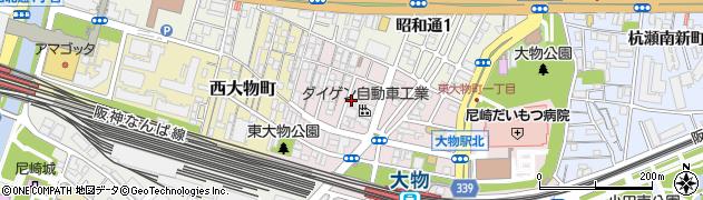 兵庫県尼崎市東大物町2丁目周辺の地図