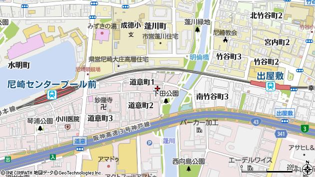 〒660-0083 兵庫県尼崎市道意町の地図