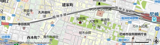 如来院周辺の地図