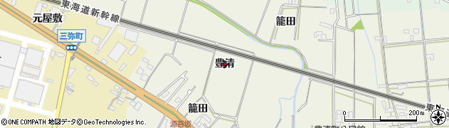 愛知県豊橋市豊清町(豊清)周辺の地図