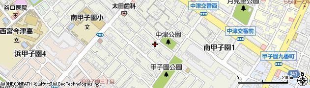 兵庫県西宮市南甲子園周辺の地図