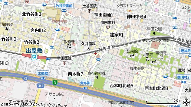 〒660-0873 兵庫県尼崎市玄番南之町の地図