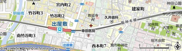 兵庫県尼崎市竹谷町1丁目周辺の地図